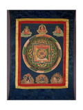Thangka of Mandala of Chakrasamvara in Fierce Form with Red Prajna, Vajravarahi, 19th-20th Century Giclee Print