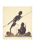 Natives Fishing, New South Wales, 1819 Giclee Print by Richard Browne