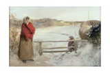 Snow Scene Giclee Print by Charles Sims