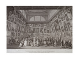 Interior View of Somerset House Showing King George III (1738-1820), Queen Charlotte (1744-1818)… Giclee Print by Johann Heinrich Ramberg