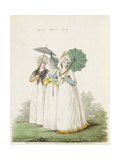 Morning Dresses, Figs. 107, 108 and 109 from Nikolaus Heideloff's 'Gallery of Fashion', Vol. II,… Giclee Print by Nicolaus von Heideloff