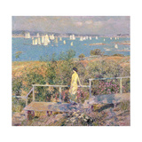 Yachts, Gloucester, 1889 Giclee Print by Childe Hassam
