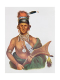 Appanoose, a Sauk Chief, 1837, Illustration from 'The Indian Tribes of North America, Vol.2', by… Giclee Print by George Cooke