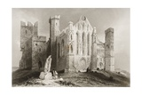 The Rock of Cashel, County Tipperary, Ireland, from 'scenery and Antiquities of Ireland' by… Giclée-Druck von William Henry Bartlett