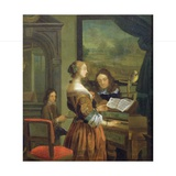 The Music Lesson Giclee Print by Willem Van Mieris