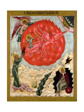 The Prophet Elijah in the Wilderness and His Fiery Ascent into Heaven Leaving His Disciple Elisha… Giclee Print