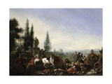 Elegant Company in a Park Giclee Print by Pieter Wouwermans Or Wouwerman