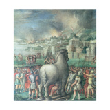 Trojan Horse Giclee Print by Niccolo dell' Abate