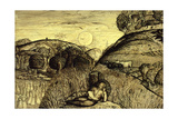 Valley Thick with Corn, 19th Century Giclee Print by Samuel Palmer