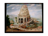 The Tower of Babel Giclee Print by Abel Grimmer or Grimer