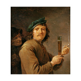 Man Holding a Pipe and a Glass of Beer Giclee Print by David Teniers the Younger
