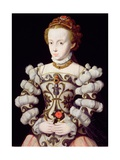 Portrait of a Girl Holding a Rose Giclee Print by Claude Corneille de Lyon