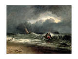 Fishermen Upon a Lee-Shore in Squally Weather Giclee Print by Joseph Mallord William Turner
