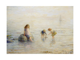 Sailing the Toy Boat, 1897 Giclee Print by Hugh Cameron