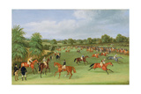 Epsom Races: Preparing to Start Giclee Print by James Pollard