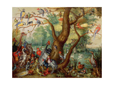 Concert of Birds Giclee Print by Jan Van, The Elder Kessel