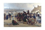The Pardon in Brittany Giclee Print by Theophile Louis Deyrolle