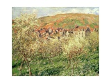 Apple Trees in Blossom, 1879 Giclee Print by Claude Monet