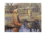 Medieval Woodland Scene, 1880s Giclee Print by Elizabeth Adela Stanhope Forbes