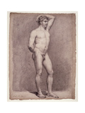 Academy Study of the Male Nude, 1764 Gicléetryck av Jacques-Louis David