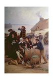 The Pardon in Brittany (Detail) Giclee Print by Theophile Louis Deyrolle