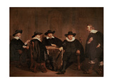 The Burgomasters of Amsterdam Learning of the Arrival of Marie De Medici, 1631 Giclee Print by Thomas de Keyser
