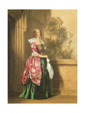 A Lady in Her Costume Worn at the Eglington Tournament, 1839 Giclee Print by Edward Henry Corbould