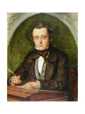 Portrait of Wilkie Collins (1824-89) 1853 Giclee Print by Charles Alston Collins