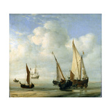Calm Sea. C.1650 Giclee Print by Willem Van De, The Younger Velde