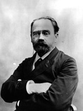 Portrait of Emile Zola (1840-1902) Photographic Print by Eugene Pirou