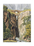 Natural Bridge, Valle D'Icononzo Giclee Print by Gerolamo Fumagalli