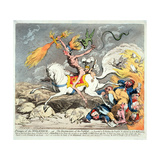 Presages of the Millennium, Published 1795 Giclee Print by James Gillray