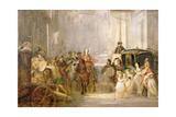 Prince Charles Edward Stuart (1720-88) Entering Edinburgh Giclee Print by Thomas Duncan