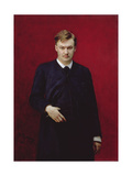 Portrait of the Composer Alexander Konstantinovich Glazunov (1865-1936) 1887 Giclee Print by Ilya Efimovich Repin