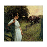 The Farmer's Daughter, 1890s Giclee Print by Henry Herbert La Thangue