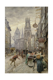 Fleet Street: Looking West, 1899 Giclee Print by Henry Edward Tidmarsh
