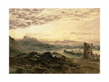A Panoramic View of Edinburgh Giclee Print by Samuel Bough