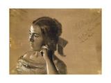 Study for a Portrait of Mrs Von Maercker, 1846 Giclee Print by Adolph Friedrich Erdmann von Menzel