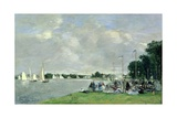 Regatta at Argenteuil, 1866 Giclee Print by Eugène Boudin