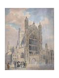 Bath Abbey Giclee Print by John Claude Nattes