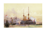 The Prince George at Spithead. the Naval Requiem of Queen Victoria Giclee Print by Charles Edward Dixon