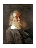 Portrait of Walt Whitman, 1887 Giclee Print by Thomas Cowperthwait Eakins