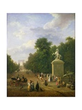 The Entrance to the Champs-Elysees in 1830 Giclee Print by Eustache Francois Duval