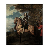 Charles I on Horseback Giclee Print by Sir Anthony van Dyck