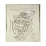 A Map of Constantinople in 1422 Giclee Print by Cristoforo Buondelmonti