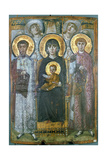 Virgin Enthroned with Two Saints, 6th Century Giclee Print