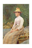 Seated Lady Giclee Print by Edwin Harris