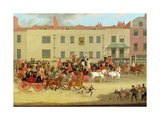 The North Country Mails at the Peacock, Islington, 1821 Giclee Print by James Pollard