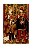 St. Sebastian and Fabian Giclee Print by Pablo Vergos