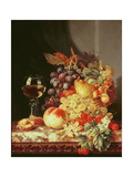 Still Life with Grapes and Wine Lámina giclée por Edward Ladell
